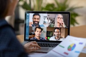 virtual presentation with videoconferencing