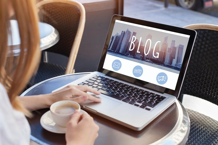 A blog page is one of three areas that need to be scored.